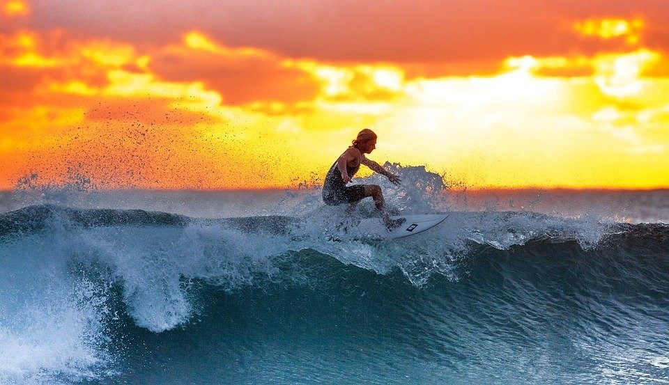 Surfer on wave-2