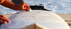 Waxing-a-surfboard
